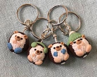 Winter Hedgehog Stitch Markers (Prickle of 4)