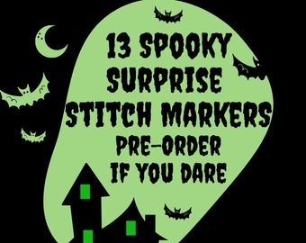 Pre-order Halloween-Themed Miniature Stitch Markers (13 individually wrapped surprise stitch markers)