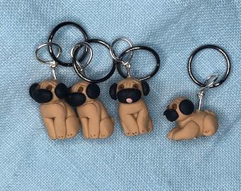 Pug Stitch Markers (set of 4)