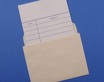50 SETS self adhesive library pockets SALE / standard size with cards
