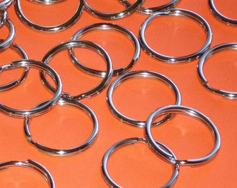 48 split rings . nickel plated  25mm size