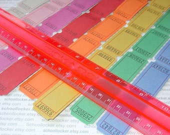 blank carnival tickets / 16 dozen / 8 colors . big batch . 200 pieces