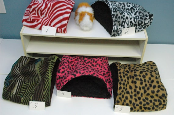 fleece bedding liner cuddle bed cage cavy hut house nesting Guinea Pig small animal sack hedgehog cage accessories