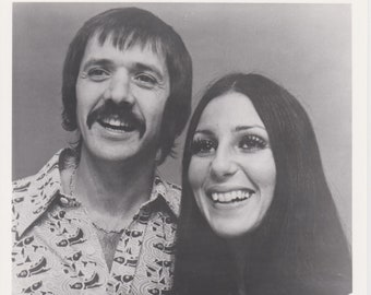 Professional Quality Sonny and Cher 8x10 black & white
