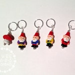 Gnome Family No-Snag Stitch Markers for Knitters