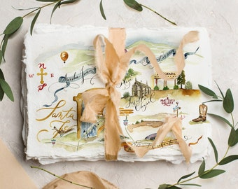 Wedding Map Watercolor, Wedding Map Invitation, Map Illustration, Custom Map, Watercolor Map, Calligraphy Map