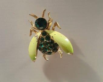 Vintage Beetle Bug Brooch Pin