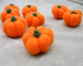 Custom made for littledesigns - Pick a Peck of Pumpkin - set of 8 - needlefelt