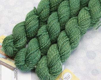 Sock Minis - TREE TOPS - Fingering Superwash Merino Nylon Wool - mini skein yarn, ColorMix, Color Mix, ombre marl marled knitting