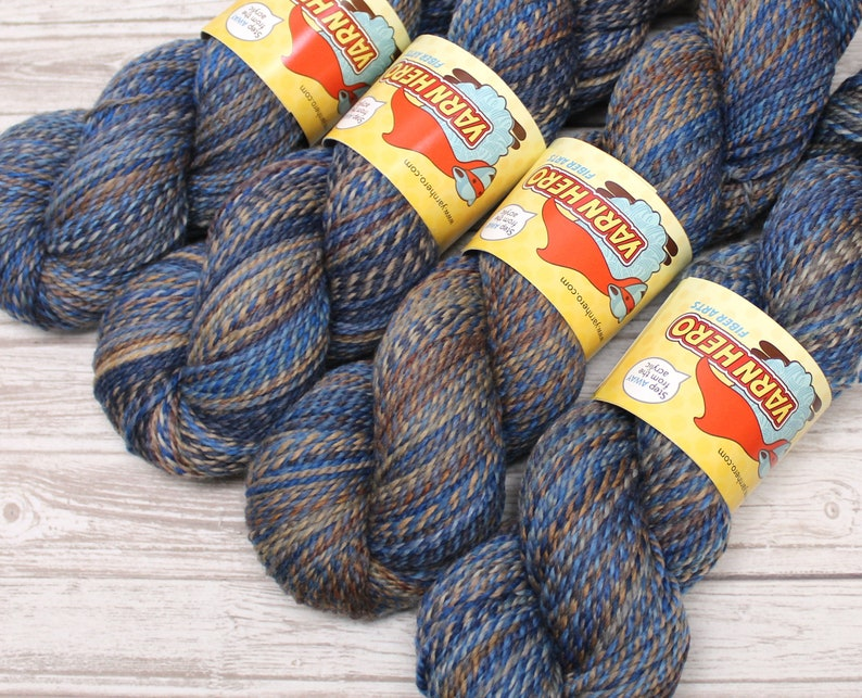 Sport   BLUE JAY   Merino Wool  ColorMix Yarn hand dyed image 0