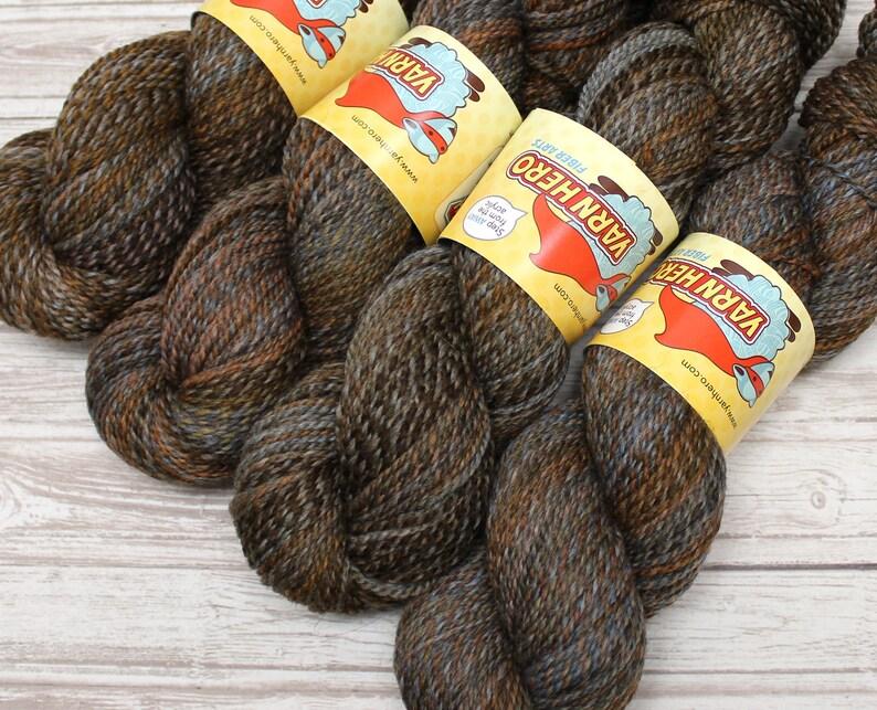 Sport   TEDDY BEAR   Merino Wool  ColorMix Yarn hand dyed image 0