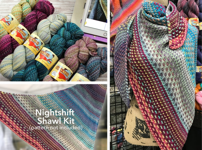 Nightshift Shawl Kit 2  ColorMix DK  pattern by Andrea image 0