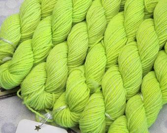 Sock Minis - TENNIS BALL - Fingering Superwash Merino Nylon Wool - mini skein yarn, ColorMix, Color Mix, ombre marl marled knitting