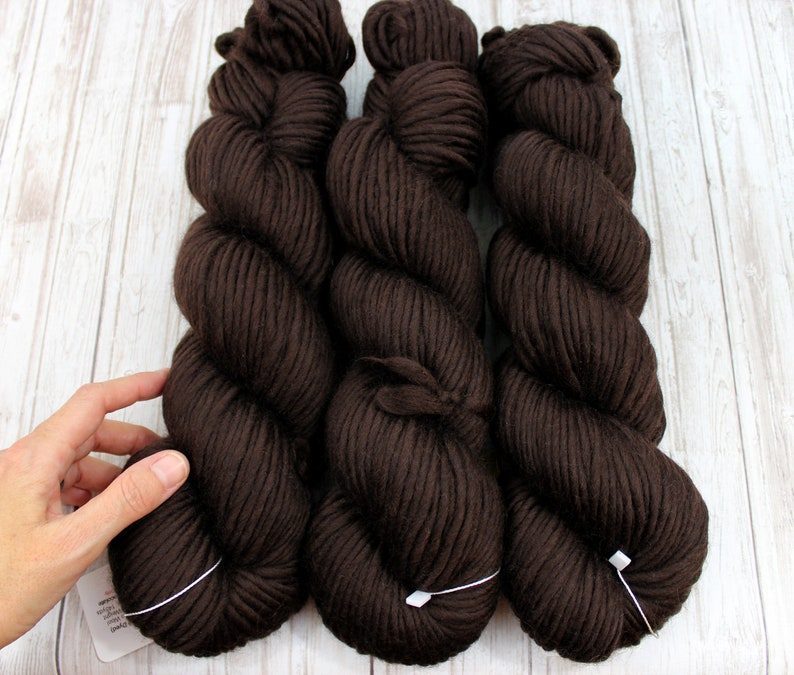 SUPRA  Super Bulky Merino Wool  CHOCOLATE  Knitting Yarn image 0