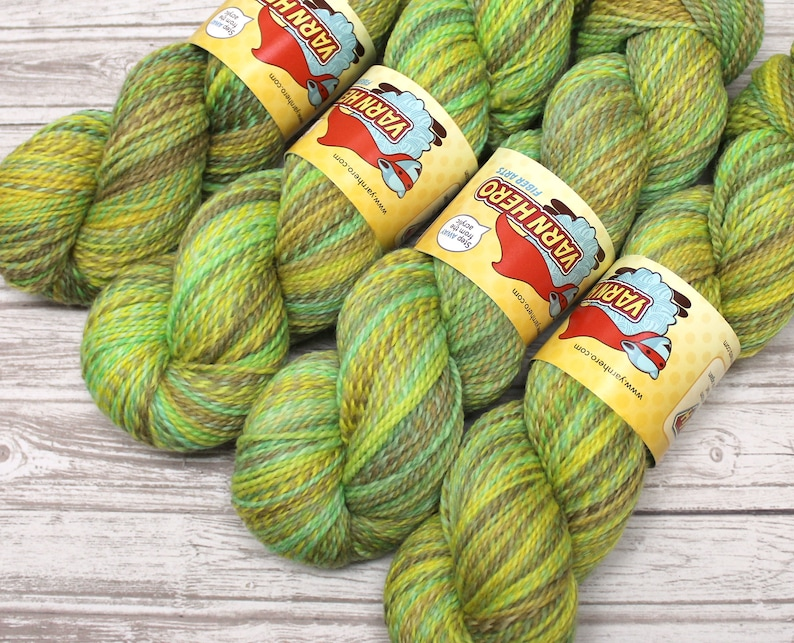 Sport   BOOKWORM   Merino Wool  ColorMix Yarn hand dyed image 0