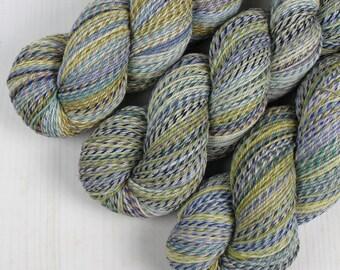ColorMix Sock - SPRIG LEAF -  Superwash Merino Wool/Nylon, Hand Dyed Yarn, Fingering gradient ombre marl marled indie knitting crochet