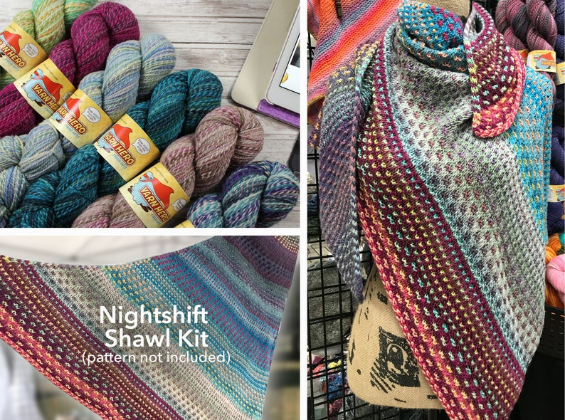 Nightshift Shawl Kit 1  ColorMix DK  pattern by Andrea image 0