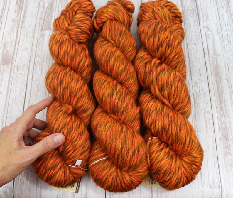 SUPRA  Super Bulky Merino Wool  PUMPKIN  Knitting Yarn image 0