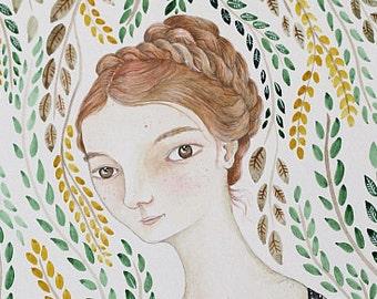 "Original Watercolour Painting ""Summer Vines"" MarmeeCraft"