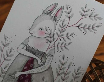 """Original Ink, Pencil and Watercolour on Paper, """"A Walk in the Garden"""", MarmeeCraft"""