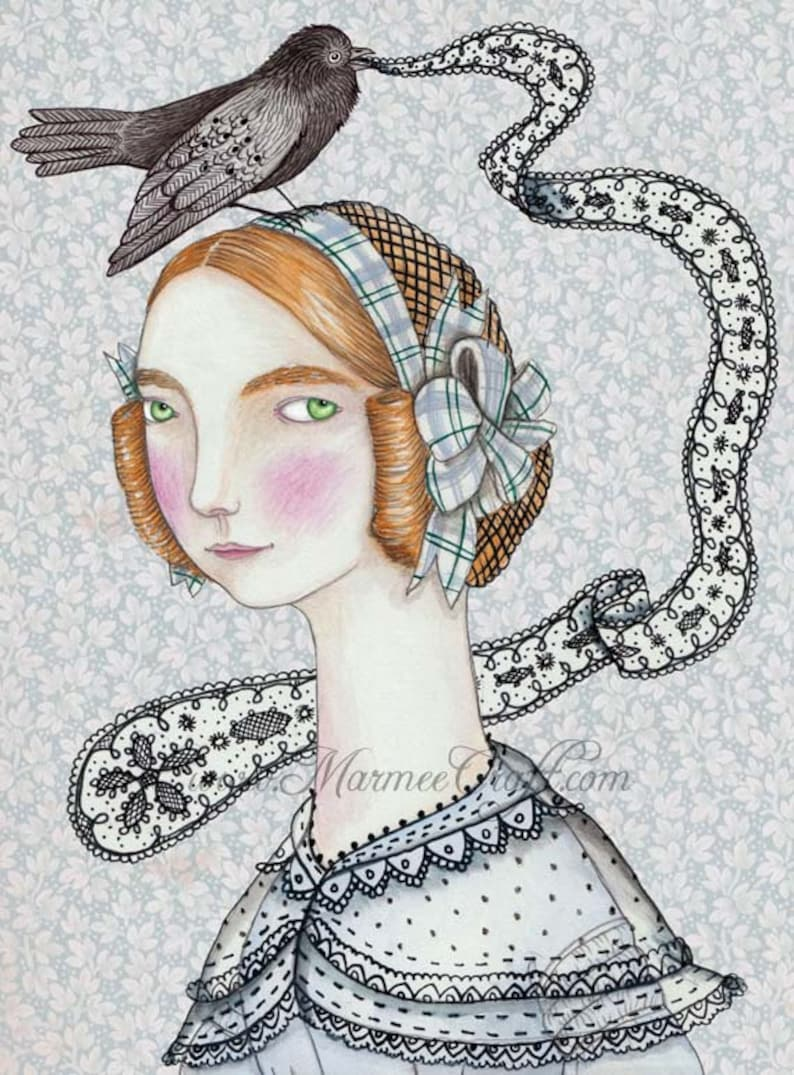MarmeeCraft art print The Little Lacemaker image 0