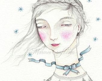 """MarmeeCraft art print, """"A Ribbon of Stars"""""""