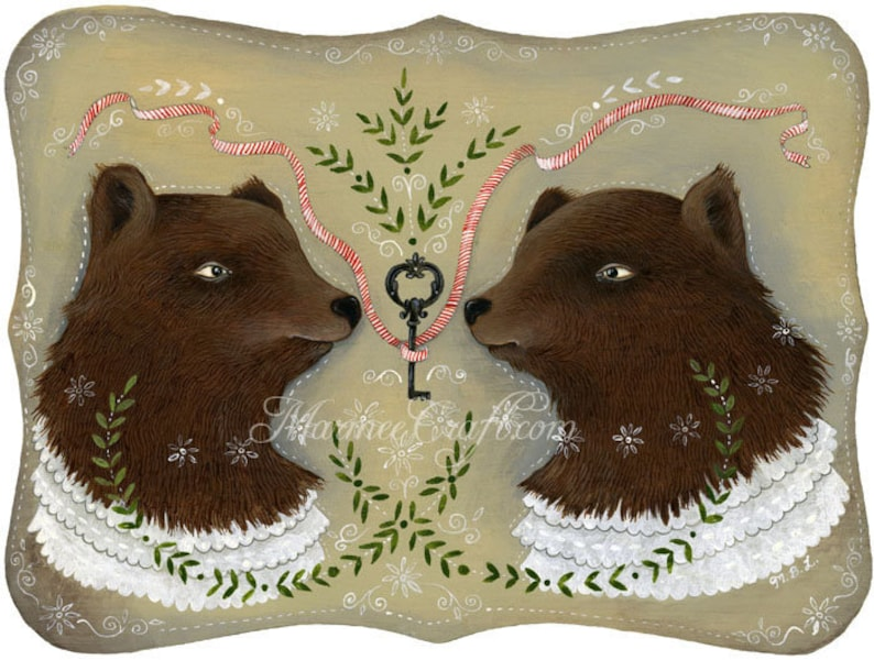 MarmeeCraft bears art print The Forest Key image 0