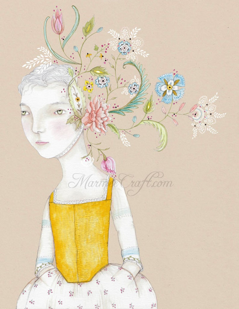 SALE MarmeeCraft art print Of Her Thoughts SALE image 0
