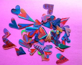 Magnets , heart magnets ,Hearts by the Bakers Dozen, 12 plus 1 Heart Magnets