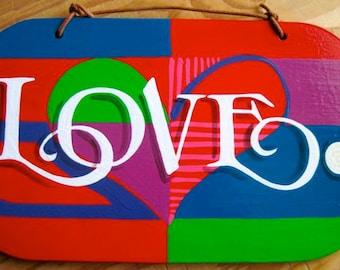 LOVE Period. wall, art, sign, love, heart, wall hanging, positivity, universal