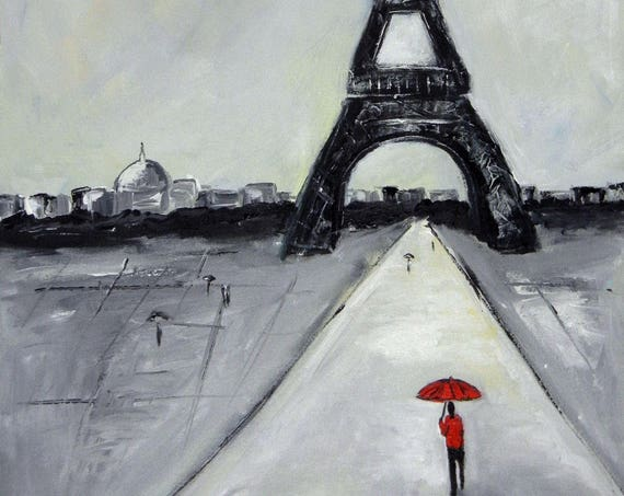 Eiffel Tower Paris France - Fine Art Print Giclee from Original Oil Painting by BenWill