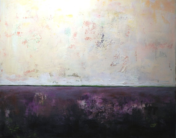 Abstract Minimalist Art ultra violet purple  Original Painting home decor Ambient 7 - 36x30 by BenWill