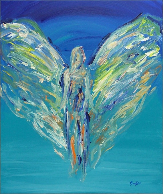 Angel Inspiration's Gift Vision of Angels Print of an Original Painting by artist BenWill
