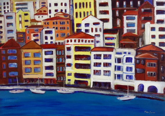 Bosphorus Istanbul II Turkey Coast Art Print Giclee from Original Oil Painting by BenWill