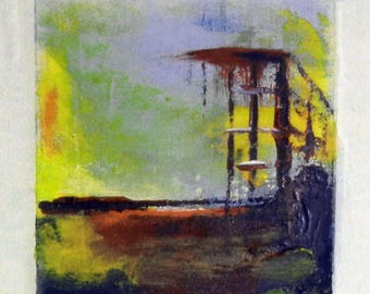 Daily Painting  A012 Small Abstract Study Painting Artwork by BenWill