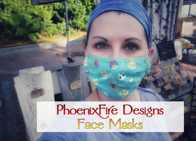 Phoenix Fire Designs Face Mask / Adult Face Mask / 100% Cotton image 0