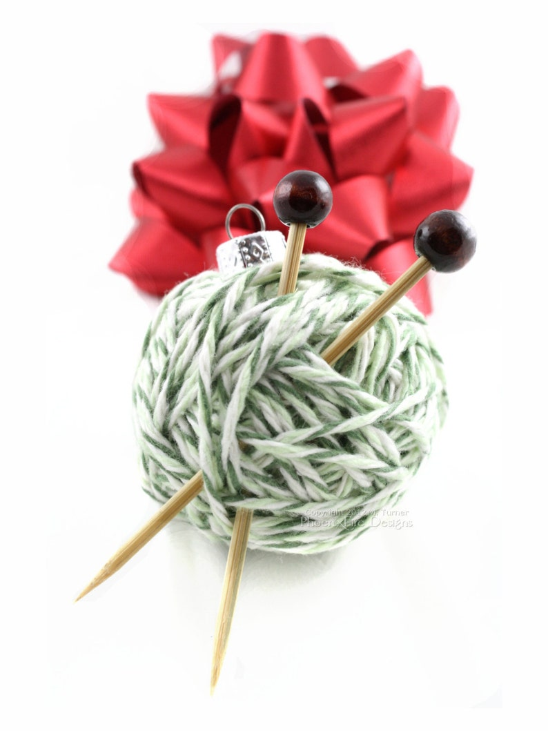 Yarn Ball Ornament Christmas Tree Gift Idea for Knitters image 0