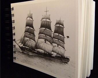 SKETCH JOURNAL Notebook Notables 1910 Seafaring Heritage Vintage Postcard Covers