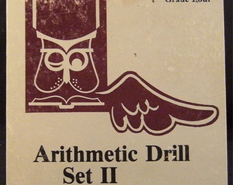 """Notebook Notables 1950's """"Arithmetic Drill"""" Box Notebook, Sketchbook"""
