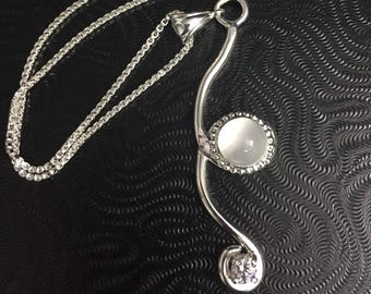Bohemian Simple Necklaces, White Topaz and Gemstone Choice, Hipster Boho Necklaces, Victorian Necklaces