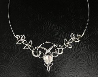 Renaissance Wedding Choker Neck Ring, Celtic Victorian Neckpiece, Celtic Choker Necklace, Victorian Chokers, Wedding Set OOAK
