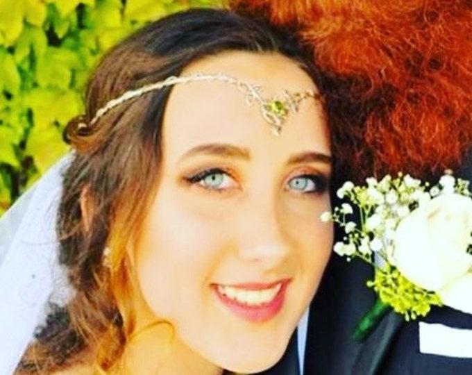 Celtic Knot Wedding Gemstone Tiaras in Sterling Silver, Irish Diadems, AlternativeBridal Tiara, Artisan Renaissance Circlets