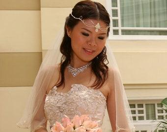 Woodland Leaves Amethyst Tiara, Leaf Circlets, Leaf Bridal Tiara, Renaissance Forehead Jewelry, Wedding Accessories Handmade