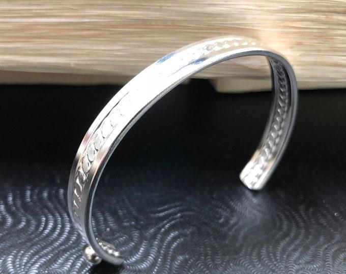 Bangle Cuff Bracelet in Sterling Silver, Gifts For Her, simple Bracelet, Bangles, Cuff Bracelet Sterling Silver, Wrist Cuff