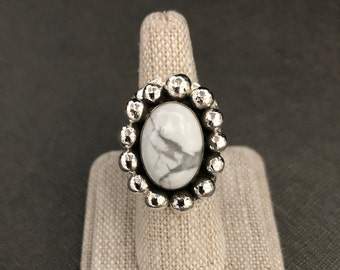 Stevie Nicks Inspired Large Statement Ring with 18x13mm Oval Gemstone, OOAK Handmade Sterling Silver Victorian Rings, Bold Bohemian Ring 925