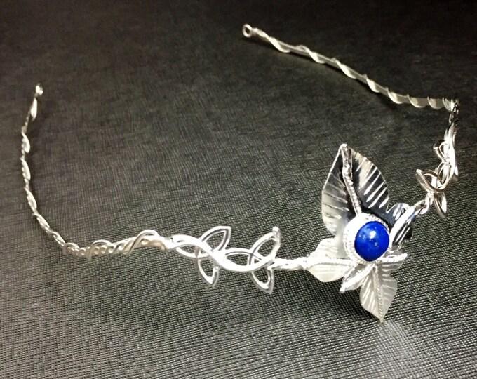 Woodland Celtic Bridal Circlet, Rustic Leaf Wedding Crown in Sterling Silver, Woodland Wedding, Celtic Wedding, Irish Wedding Diadem