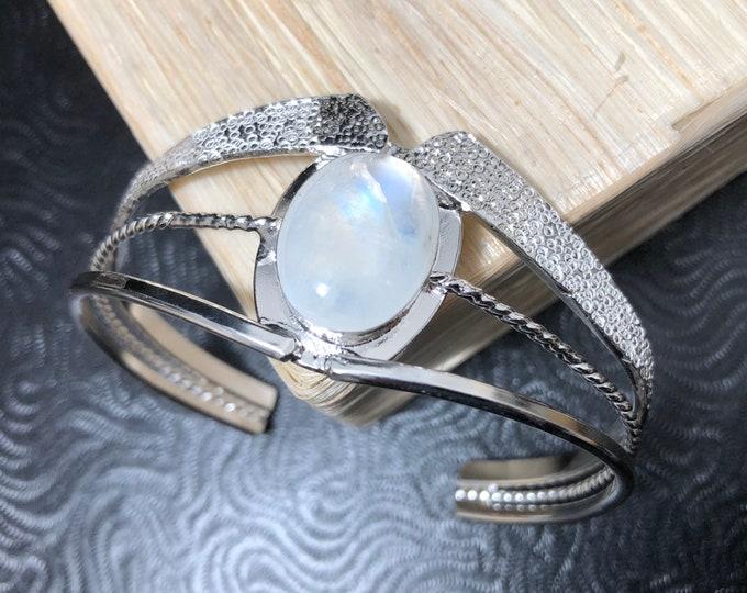 Art Nouveau Bracelet Cuff Artisan Made in Sterling Silver, Fae Cuff Bracelet, OOAK Victorian Cuff Bracelet, Artisan Handmade cuff jewelry
