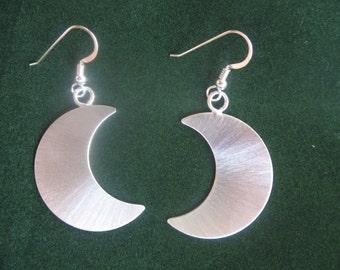 Moon Earrings, Crescent Moon Sterling Silver Earrings, Stevie Nicks Crescent Moons, Celestial Moon Dangle Earrings