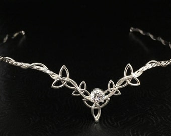 Celtic Knot Bridal Tiaras in Sterling Silver, Scottish Circlets, Irish Weddings, Alternative Bridal Accessories, Gifts For Her, Irish Diadem