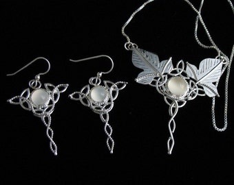 Celtic and Woodland Necklace and Earring Set in Sterling Silver, Artisan  Wedding accessories, Jewelry Sets